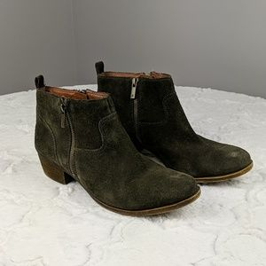 Lucky Brand Booties Green Size 10